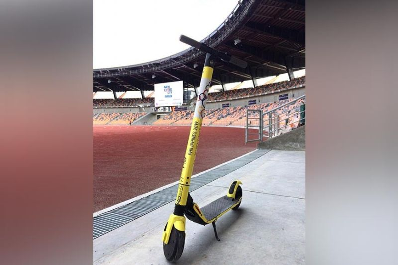 "Ridee at New Clark City. The ""Ridee"" or the electric kick board will offer a new mobility experience in New Clark City in the upcoming 30th Southeast Asian (SEA) Games. (Contributed photo)"