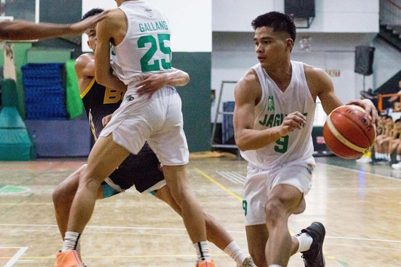 BAGUIO. Jerome Alberto Meamo steps up for the Jaguars as they seek a final four appearance in this year's men's basketball of the Baguio - Benguet Educational Athletic League season 33. (Photo by Jean Nicole Cortes)