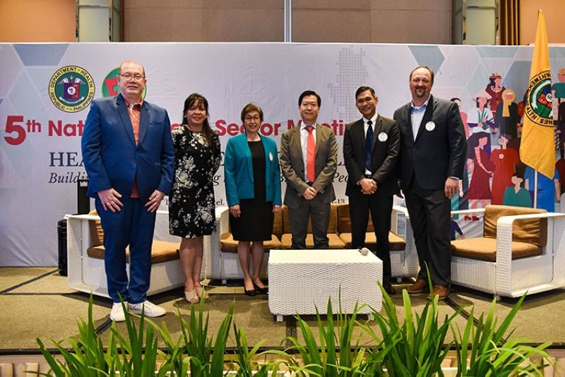 MANILA. Prudential Corporation Asia Chief Health Officer Andrew Wong (third from right) addresses topics on health innovation with DOH Secretary Dr. Francisco Duque III (leftmost) and other speakers at the DOH 5th National Health Sector Meeting. (Contributed photo)
