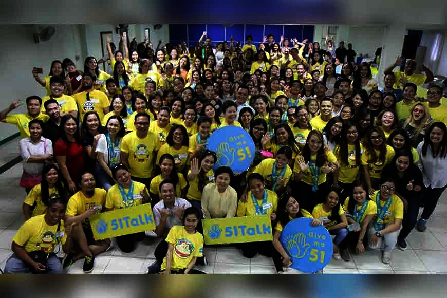BACOLOD. 51Talk home-based online English teachers with Country Head Jennifer Que celebrated the annual teachers' day in Bacolod City. (Photo by Erwin P. Nicavera)