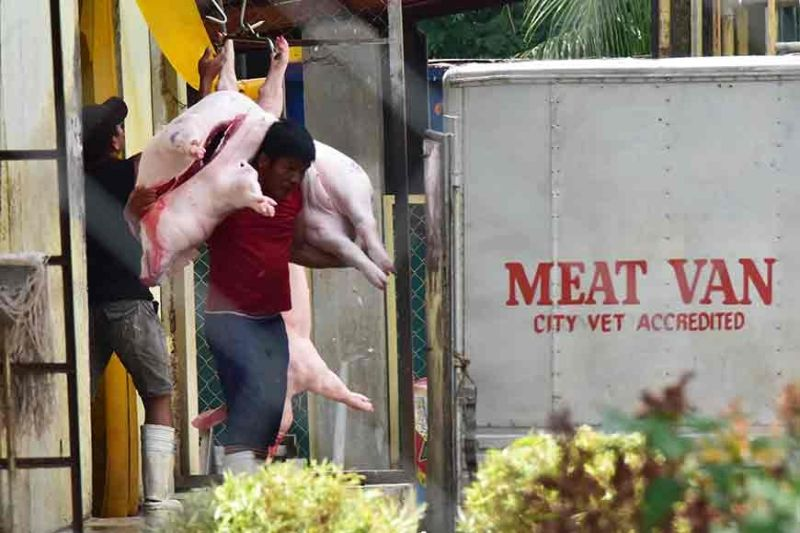 DAVAO. Pork meats stocked in cold storage facilities in Davao Region remained unaffected of the African Swine Fever based on the latest monitoring by the National Meat Inspection Service Davao. (Photo by Macky Lim)