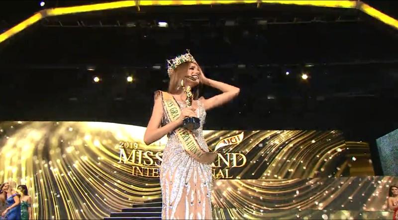 Screengrab from Miss Grand International 2019 livestream