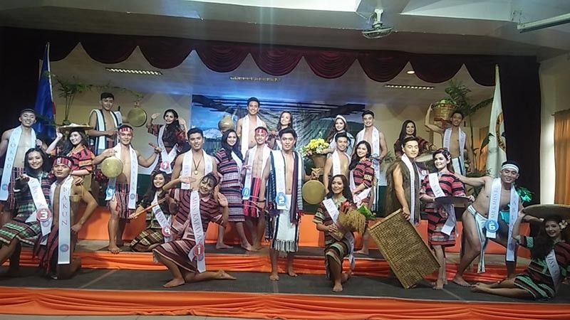BAGUIO. 26 Mr. and Ms. Adivay candidates from the different towns of Benguet garbed in their native attire last October 24 for the Search for Darling of the Press at Benguet capitol. (Photo by Lauren Alimondo)