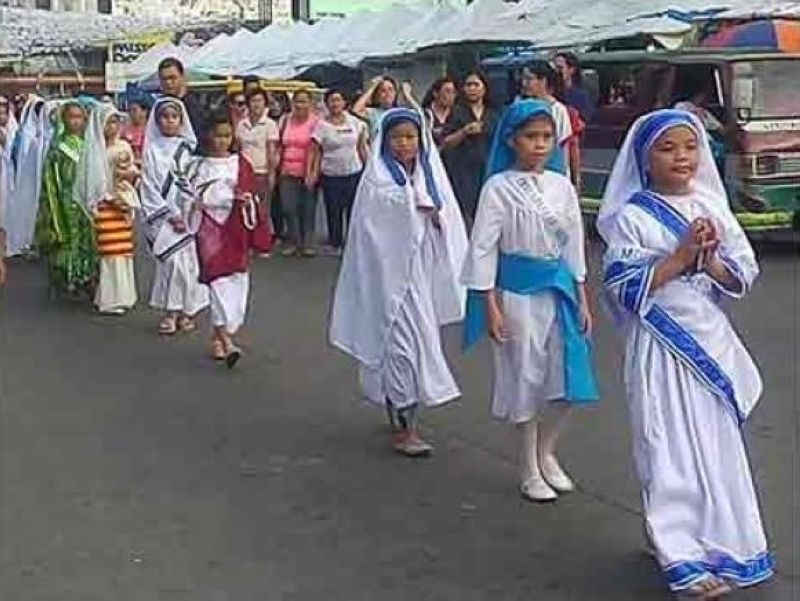 PAMPANGA. Several public schools and convent academies in Pampanga hosted their respective Parade of Saints over the weekend in a bid to rid the hallowed tradition of All Saints' Day of spooky Halloween practices. (SunStar File)