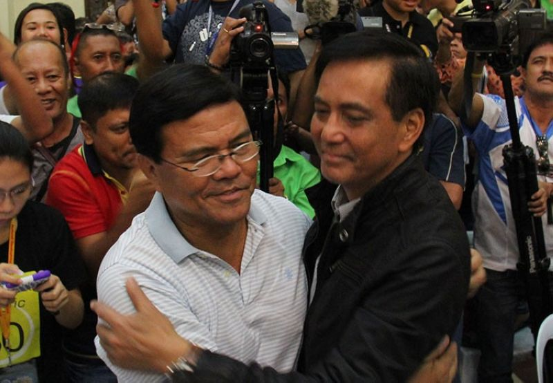 Cebu City Mayor Edgardo Labella and Vice Mayor Mike Rama (SunStar File)