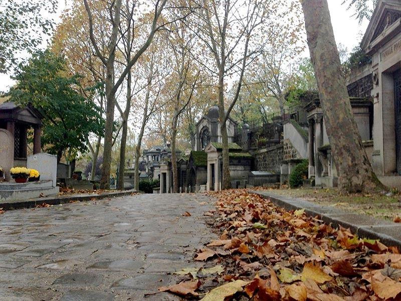 Pere Lachaise cemetery in Paris.