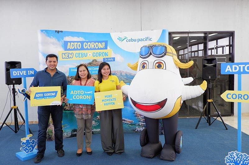 (From left) Department of Tourism-Central Visayas Director Shalimar Hofer Tamano, head of Airline Marketing at GMR Megawide Cebu Airport Corporation Aines Librado, Cebu Pacific Director for Marketing Michelle Eve de Guzman. (Contributed photo)