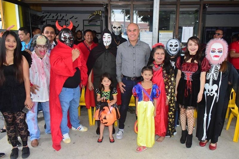 PAMPANGA. Mabalacat City Mayor Crisostomo Garbo hosted the first ever Halloween