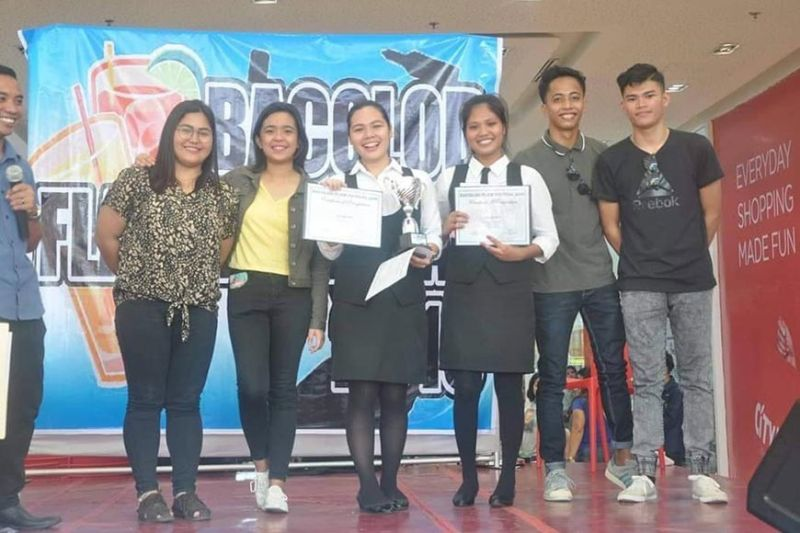 BACOLOD. These were the college students who competed and won at the Bacolod Flair Festival 2019 held recently as part of the Ruby MassKara festival celebration. Tandem Rashed Marie Lim (4th from left) Eunese Francisco Sabanal (5th) were declared champion in the tandem category. (Carla N. Cañet)