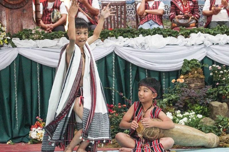 BAGUIO. Young Ibaloi boys perform during the National Indigenous Peoples Month celebration, which is observed every October by virtue of Proclamation 1906 signed on October 5, 2009 by former President Gloria Macapagal-Arroyo. (Jean Nicole Cortes)