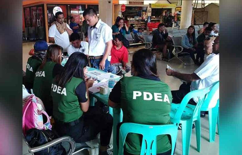 ZAMBOANGA. The Philippine Drug Enforcement Agency (PDEA), in coordination with other government agencies, conduct random drug tests on public utility vehicles as part of Oplan Undaspot to ensure the safe travel of the public in time for the All Saints' and All Souls' Days. Of the 107 who underwent a drug test, no one was found positive for illegal drug use. (SunStar Zamboanga photo)