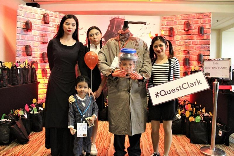 CLARK FREEPORT. The Addams Family-inspired Halloween party at Quest Plus Clark was participated by hundreds of kids wearing spooky and cute costumes. (Contributed photo)