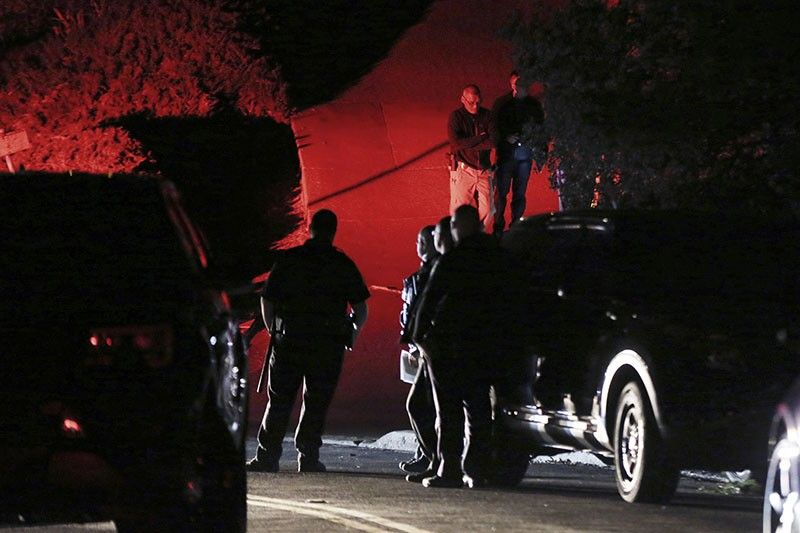 ORINDA, California. Contra Costa County Sheriff deputies investigate a multiple shooting in Orinda, California, on Thursday, October 31, 2019. Four people were killed and four others wounded in a Halloween night party shooting at a large rental home in a wealthy San Francisco Bay Area community, police said Friday, November 1, 2019. The shooting in the city of about 20,000 just east of Berkeley happened at a party attended by 100 people said police chief David Cook. (AP)
