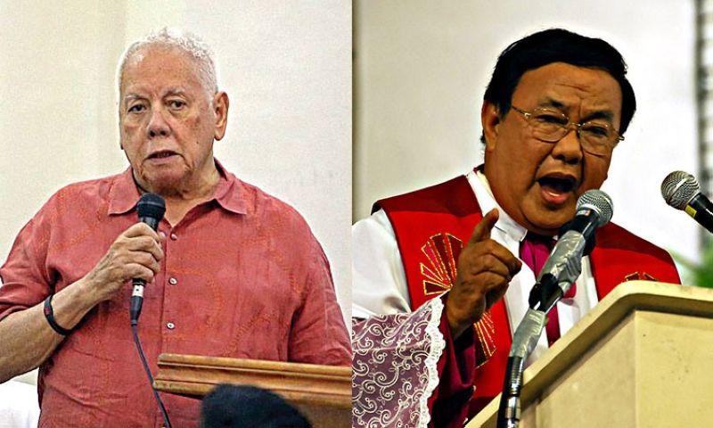 CEBU. Former Toledo City mayor John H. Osmeña (left) and Msgr. Esteban Binghay. (SunStar File)
