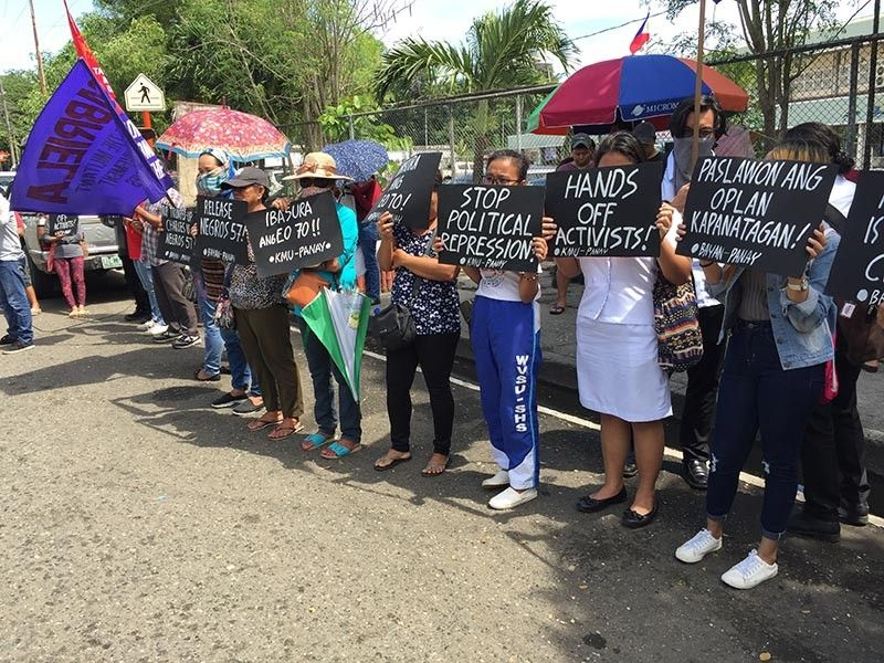 ILOILO. Students join the protest rally in front of the Police Regional Office-Western Visayas in Iloilo City, November 4, 2019. (Leo Solinap)