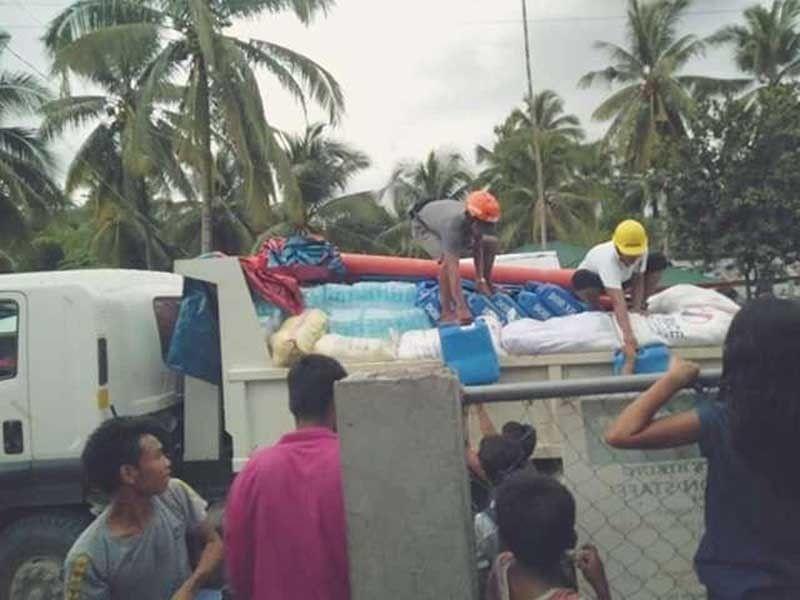 TULUNAN. Relief goods arrive in Tulunan, Cotabato. A series of earthquakes since October 16, 2019 were centered near Tulunan. (Photo from LGU Tulunan)