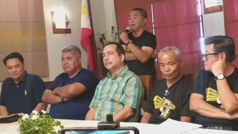 BACOLOD. Confed national spokesperson Raymond Montinola (standing) in one of the press conferences of Tatak Kalamay in the province recently. (Erwin P. Nicavera)