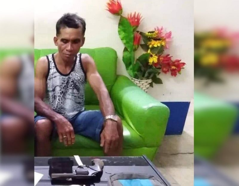 CEBU.Florencio Yonto, 52, was put behind bars after he was accused of physically abusing his wife in Dalaguete town, Cebu on Tuesday, November 5, 2019.  (Contributed photo)
