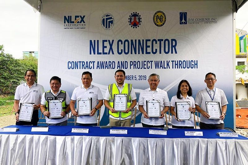 CALOOCAN CITY. The North Luzon Expressway Corporation (NLEX Corp.) awards the main works contract to D.M. Consunji Inc. (DMCI) for the first five-kilometer section of the NLEX Connector from Grace Park, Caloocan City to Espana St., Sampaloc, Manila. (Contributed photo)