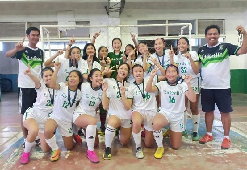 The University of St. La Salle Bacolod Futsal Girls Team won as the overall champion in the Negros Occidental Private Schools Sports Cultural Educational Association (Nopsscea) 2019.
