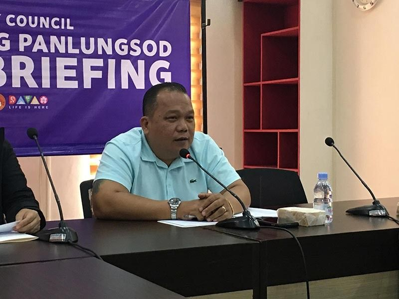 DAVAO. Davao City councilor Edgar Ibuyan Jr, chair of the public works and highways, bared the list of public establishments that they considered not safe for occupancy based on their recent inspection in a press briefing Wednesday, November 6. (Photo by Roberto A. Gumba Jr.)