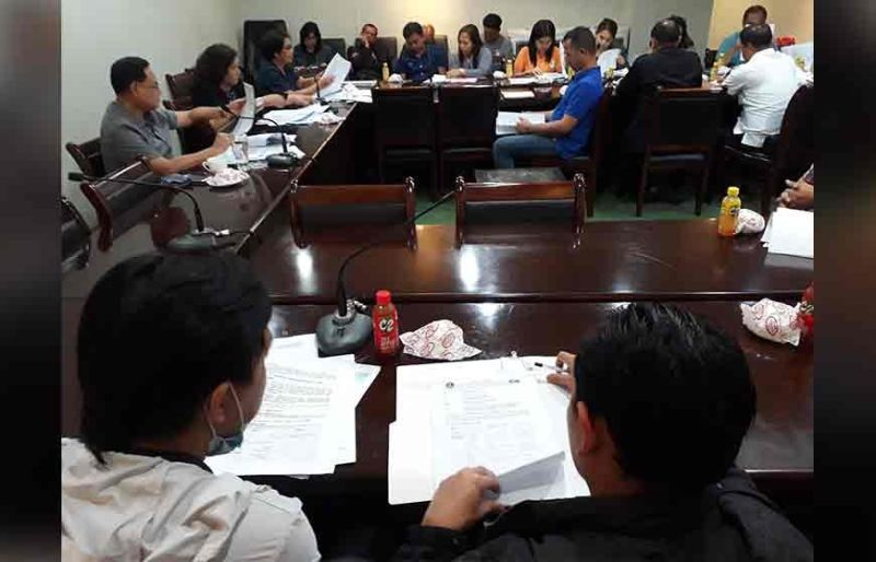 ILOILO. Meeting with Iloilo Governor Arthur Defensor Jr. and the members of the Provincial Disaster Risk Reduction and Management Council at the Iloilo Provincial Capitol Thursday, November 7, 2019. (Leo Solinap)