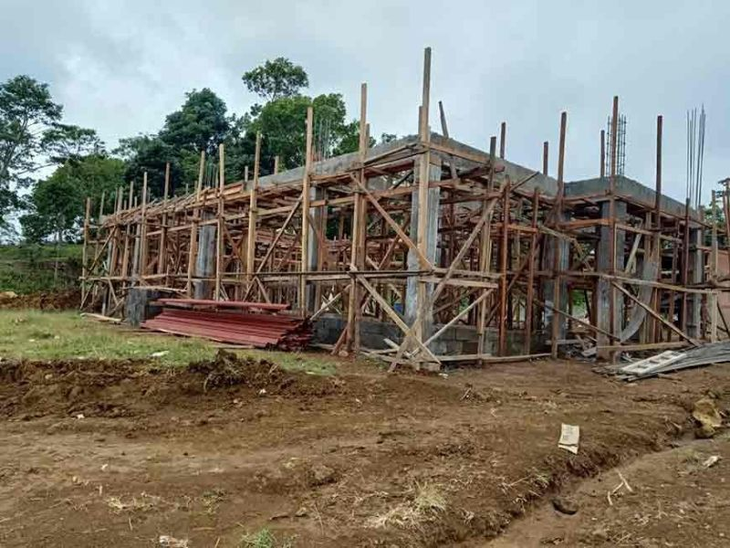 GINGOOG CITY. The ongoing construction of the Oolong tea processing center in Gingoog City. The operation is expected to start next month. (Photo courtesy of Benj Boston)