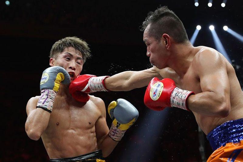 JAPAN. Gipildi ni Japanese undefeated champion Naoya Inoue ang Pinoy boxer nga si Nonito Donaire Jr. atol sa ilang World Boxing Super Series bantamweight final match sa Saitama, Japan, Huwebes, November 7, 2019. (AP)