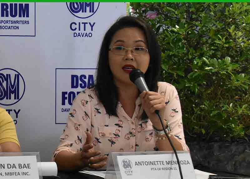 DAVAO. Federation of Parents-Teachers Association (FPTA) Davao Region sports committee vice chairperson Antoinette Mendoza, during the Davao Sportswriters Association (DSA) Forum at The Annex of SM City Davao Thursday, November 7, says it's all set for the staging of the 2019 sportsfest that will kicks off tomorrow, November 9, at the Precious International School of Davao (PISD) in Matina, Davao City. (Seth delos Reyes/DSA)