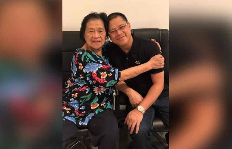 BACOLOD. Mrs. Olivia Villaflores - Yanson a.k.a. OVY with her youngest son Leo Rey Yanson