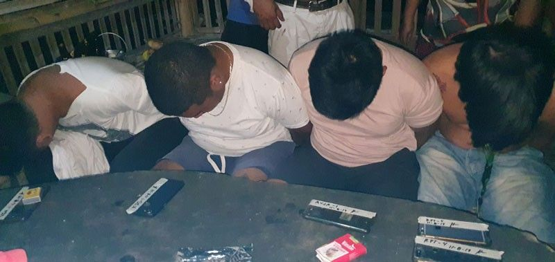 AKLAN. At least four students was caught by the local drug enforcers in Barangay New Washington, Aklan. (Jun N. Aguirre)