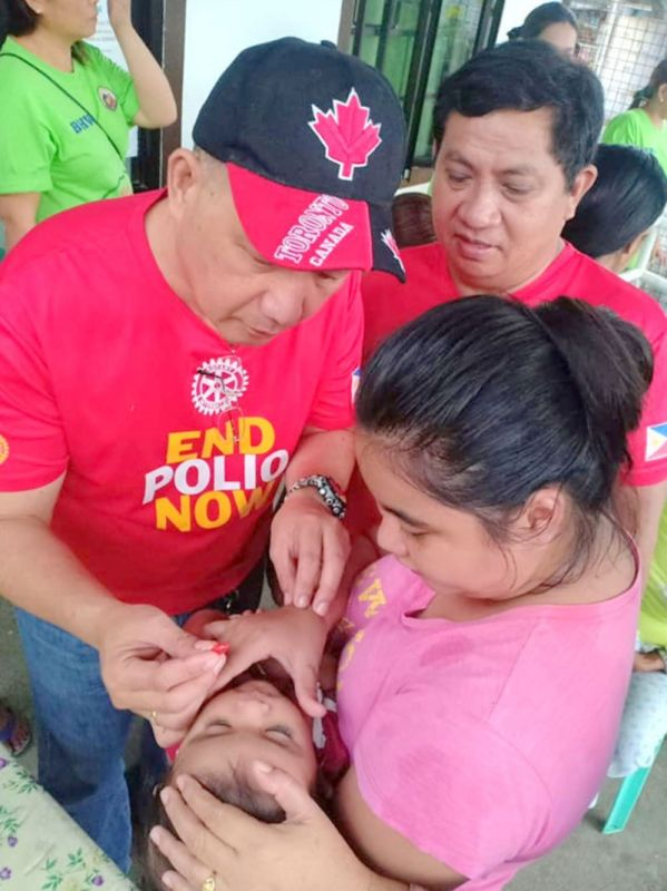 MABALACAT CITY. The Rotary Club of Mabalacat conduct the Patak Polio project for children in San Juan Bano, Arayat town. (Contributed photo)
