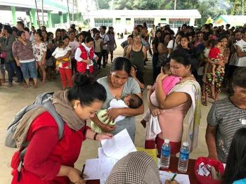 COTABATO. Department of Social Welfare and Development Office (DSWD) Soccsksargen validates victims. (Photo by Jeepy P. Compio)