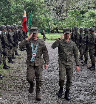 BACOLOD. Major General Roberto Ancan, newly installed commander of the Central Command (Centcom) of the Armed Forces of the Philippines, visits the 303rd Brigade HQ with Brigadier General Benedict Arevalo, commanding officer of the 303rd Brigade.(303rd Photo)