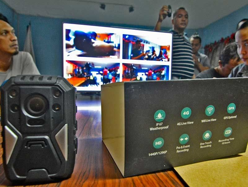 CEBU. Photo shows one of six body cameras donated to the Cebu City Police Office in December 2017. (Photo by Amper Campaña/SunStar Cebu)