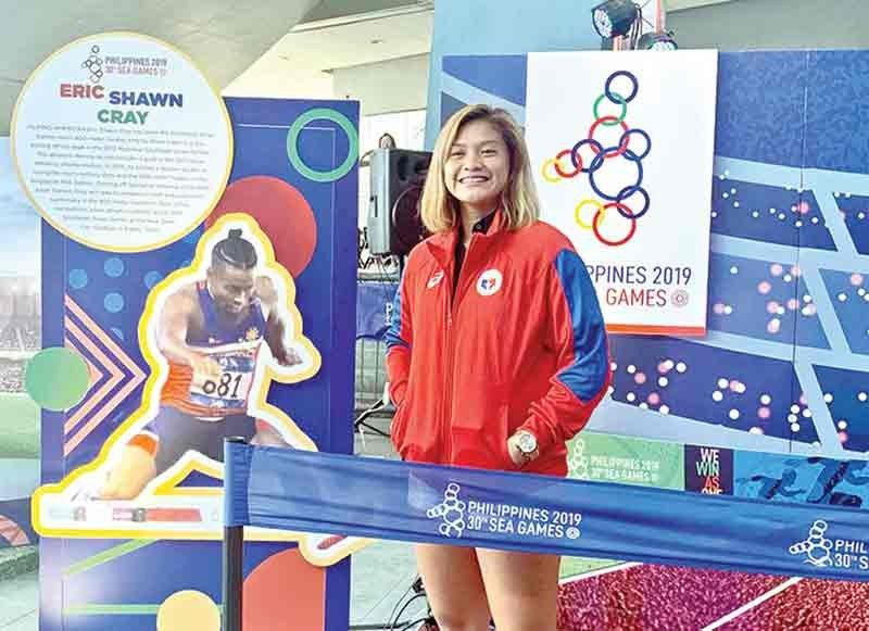 DAVAO. Si Shaira Hope Rivera nagpahulagway atol sa 30th SEA  Games Caravan, Sabado, Nobyembre 9, sa  Mall of Asia Arena. (Hulagway gikan sa 2019 Sea Games Facebook page)