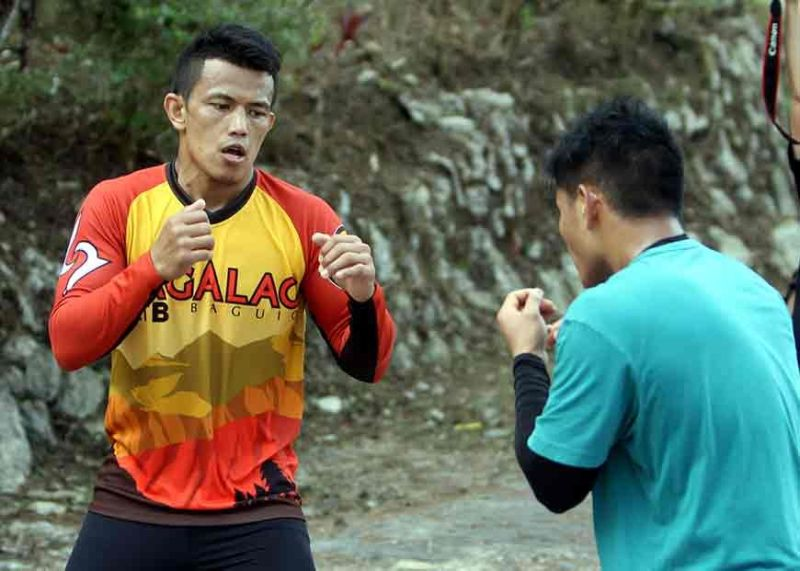 BAGUIO. Edward Kelly holds a morning workout as he prepares against Kai Tang in ONE's November 16 event dubbed Age of Dragons at the Cadillac Arena in Beijing, China. (Roderick Osis)