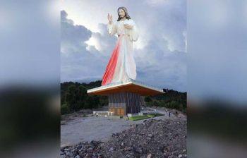 CEBU. Gikatakda nga tukoron ang pinakadako nga istraktura sa Sugbo, ang Divine Mercy, sa bukirang dapit sa Barangay Garing, lungsod sa Consolacion. (Tampo nga hulagway)