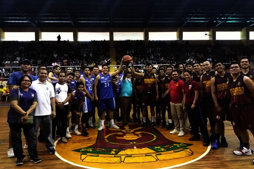 MARAWI CITY. The Xavier University Senior Crusaders during their out-of-town goodwill games in war-torn Marawi City. (Supplied Photo)