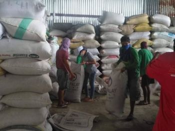 One of the warehouses of NFA-Negros Occidental that serves as buying station for palay of farmers in the province. (Contributed photo)