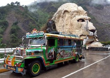 BAGUIO. The Baguio City Creative Tours and the creative jeepney named