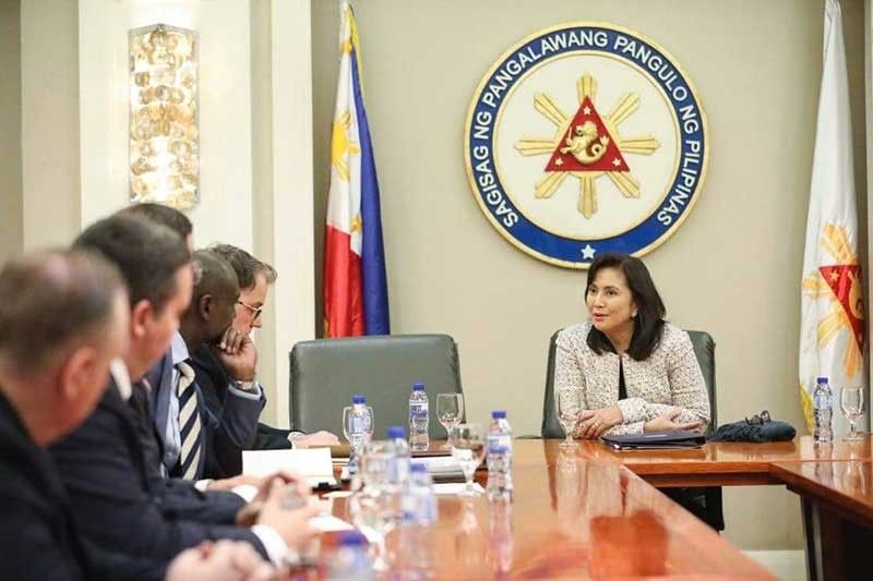 MANILA. An inter-agency delegation from the US met with Vice President Maria Leonor