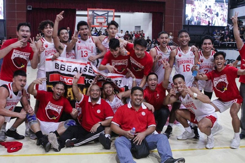 BAGUIO. University of Baguio Cardinals retains the men's basketball title after whipping University of the Cordilleras Jaguars, 92-51. (Jean Nicole Cortes)