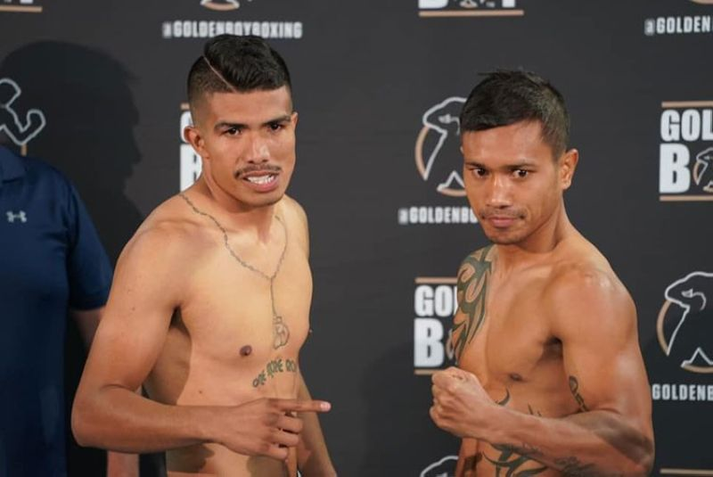 "Suwayan pagbangon ni San Diego, California-based apan Barangay Labogon, Mandaue City, Cebu native Mercito ""No Mercy"" Gesta (too) ang sunod sunod nga kapildihan sa mga pinoy boxers nga misulong sa Amerika. Si Gesta (32W- 3L-2D, 17KO) makigsinumbagay ibabaw sa ring batok ni Mexican-American Carlos ""The Solution"" Morales (wala) sa Nobyembre 14, 2019 Huwebes (Biyernes RP Time) sa Belasco Theater sa Los Angeles, California, USA. (Hulagway gikan sa kampo ni Gesta)"