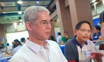 BACOLOD. Governor Eugenio Jose Lacson and 3rd District Representative Francisco Benitez during the Pre-water Summit. (Teresa D. Ellera)