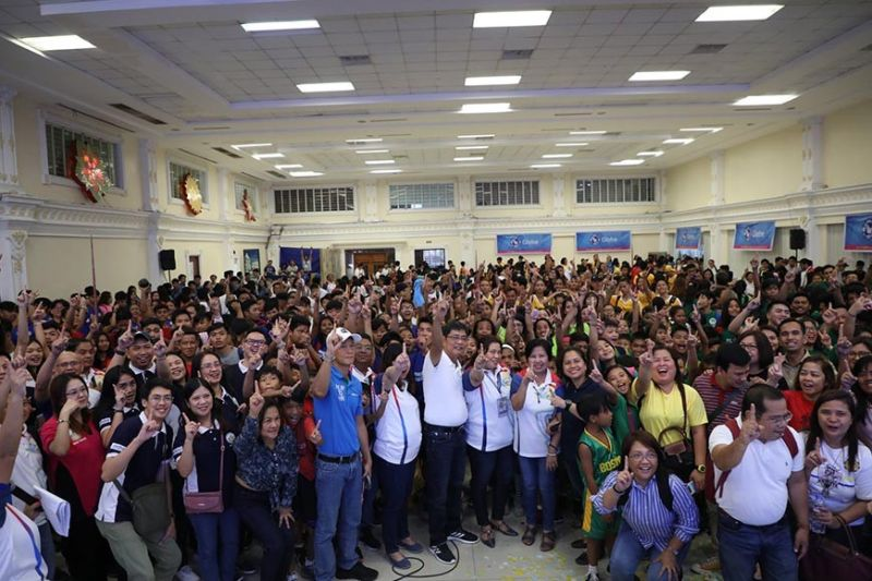 PAMPANGA. Mayor Edwin Santiago joins School Division-Sports department officials, school heads, Fernandino athletes, and parents as the 2019 CSDAAM officially opened on November 14, 2019 at the Mini-Convention, Heroes Hall. (Contributed photo)