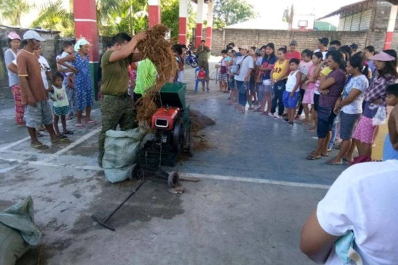 NUEVA ECIJA. About 150 farmers attend a one-day mushroom production seminar conducted by the 69th Infantry Battalion and Municipal Agriculture Office in Barangay San Antonio, Cuyapo town. (Courtesy of 7th Infantry Division)