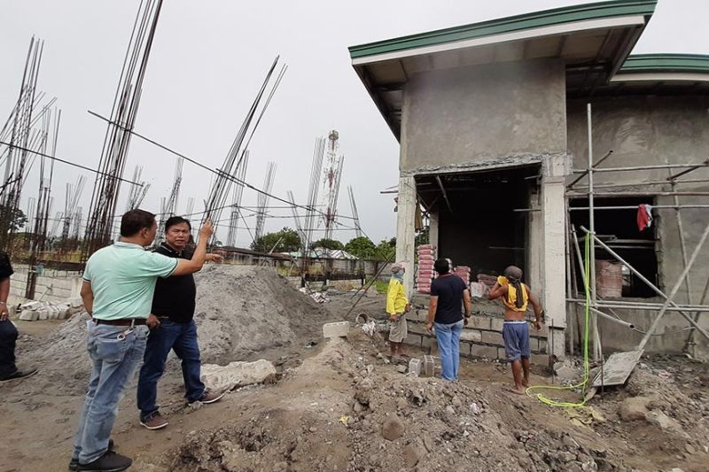 PAMPANGA. San Simon Mayor Abundio Punsalan Jr. inspects the ongoing construction of the dialysis center located at the Local Government Center in Barangay Sto. Niño. (Princess Clea Arcellaz)