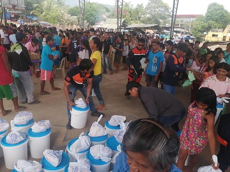 RELIEF. Hundreds of earthquake victims from 289 households in Makilala, North Cotabato benefited from a relief operation facilitated by the General Santos Chamber of Commerce and Industry from donations poured in by the Pampanga Chamber of Commerce and Industry, Inc. (Contributed photo)