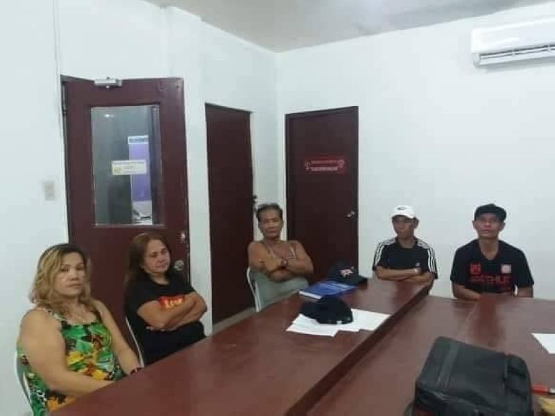 CEBU. Five pimps were arrested while eight women were rescued by Talisay police during an entrapment operation in Sitio Sangi, Barangay Tabunok, Talisay City. (Photo courtesy of Talisay City Police Office)